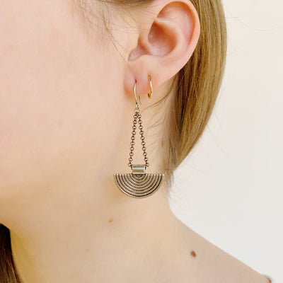 Vagabond Earrings - Gunmetal