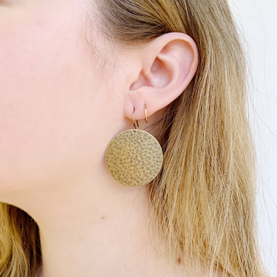 Jupiter Drop Large Earrings - Brass