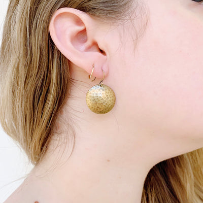 Mars Drop Medium Earrings - Brass