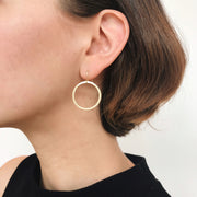 Salerno Drop Hoop Earrings - Gold