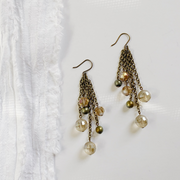 Simone Waterfall Earrings - Brass