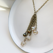 Simone Waterfall Necklace - Brass