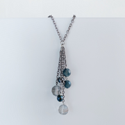 Simone Waterfall Necklace - Silver