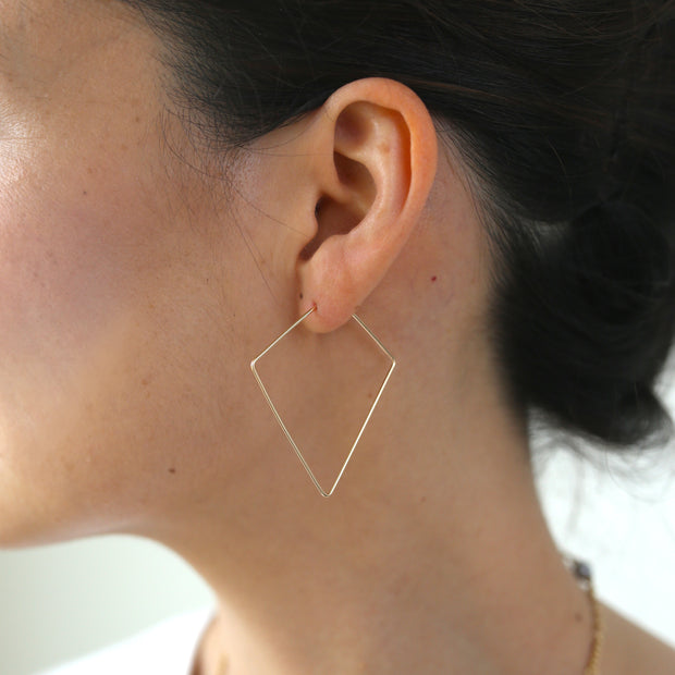 Weightless Diamond Hoops - Small - 14k Gold Fill