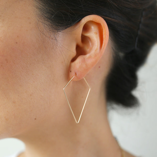 Diamond Small Hoops - 14k Gold Fill