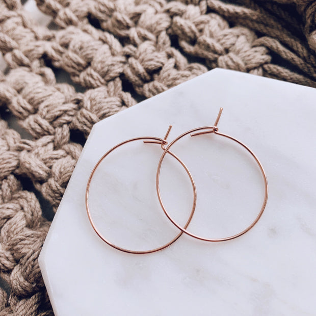 Weightless Small Hoops - 14k Rose Gold Fill