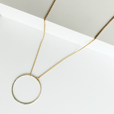 Sorrento Circle Necklace - Gold