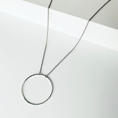 Sorrento Circle Necklace - Silver