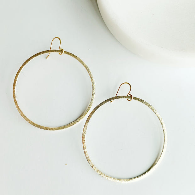 Sorrento Drop Hoop Earrings - Gold