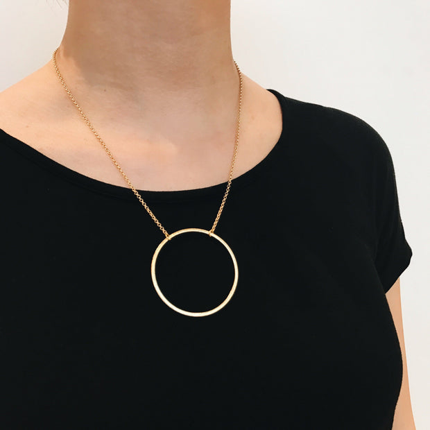 Sorrento Circle Necklace - Gold 2