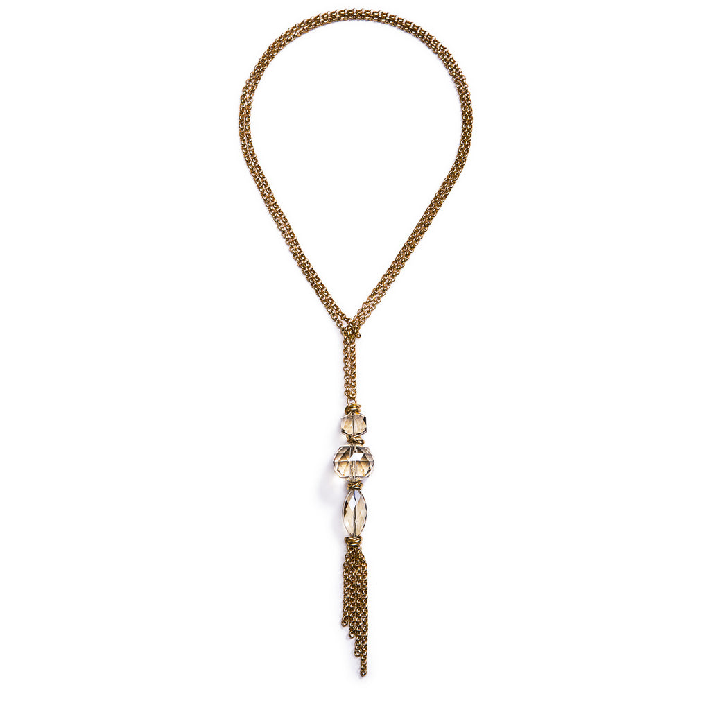 Spire Convertible Necklace – Gold 2
