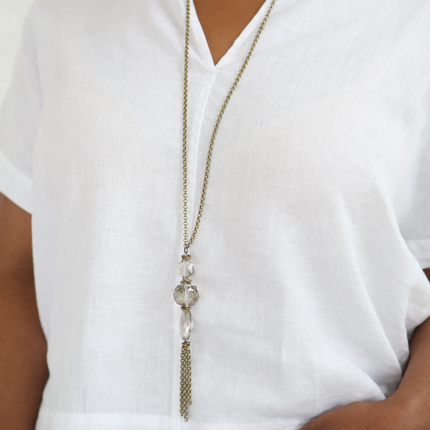 Spire 2-in-1 Necklace - Brass