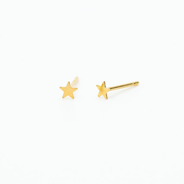 Dainty Star Studs - 14k Gold Fill