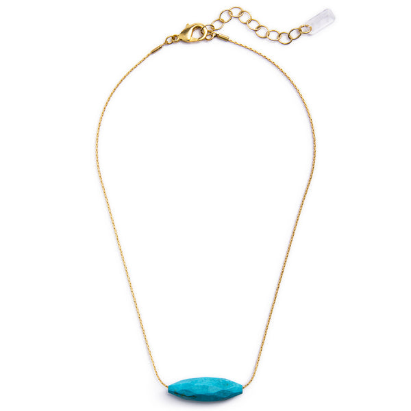 Tokara Gold and Turquoise Necklace