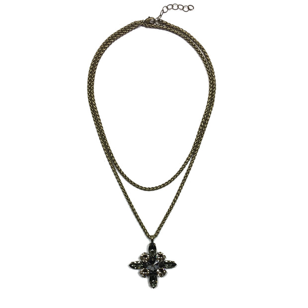 Tudor Convertible Necklace - Brass 2