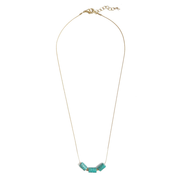 Turquoise Slider Necklace