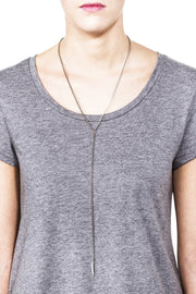 Waverly Y Necklace - Silver 2