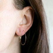 Weightless Hoops - Set of 2 - 14K Gold Fill