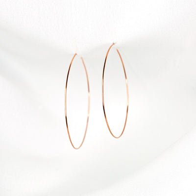 Weightless Medium Hoops - 14k Rose Gold Fill