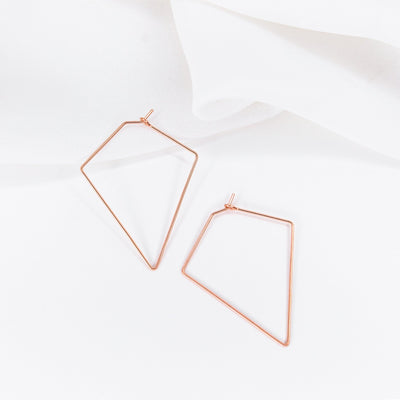 Weightless Diamond Hoops - Small - 14k Rose Gold Fill