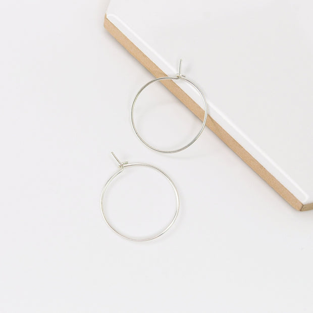 Weightless XS Hoops - Sterling Silver