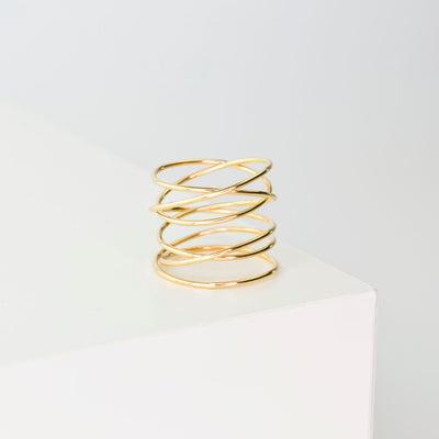 Woven 6-Band Ring - 14K Gold Fill