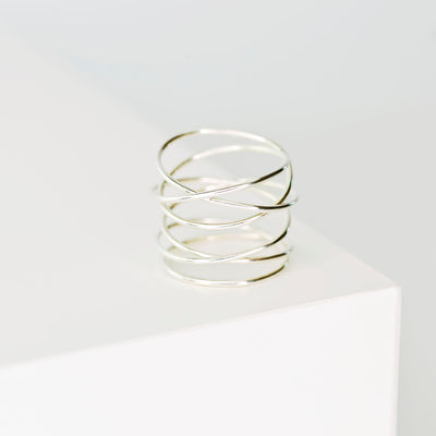 Woven 6-Band Ring - Sterling Silver
