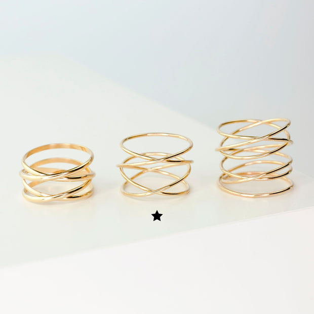 Woven 4-Band Ring - 14K Gold Fill