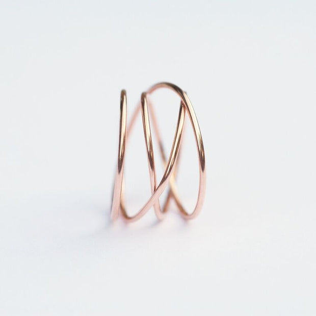 Woven Ring - 14K Rose Gold Fill