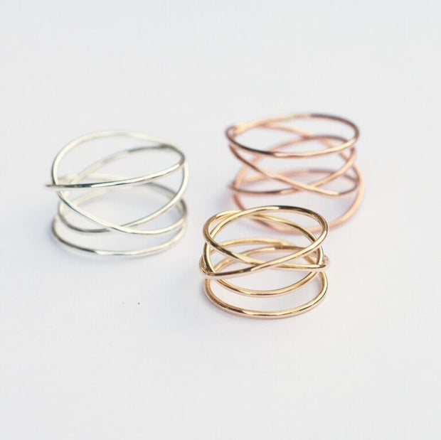 Woven Ring - Sterling Silver