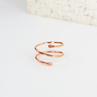 Wrap Ring - 14k Rose Gold Fill
