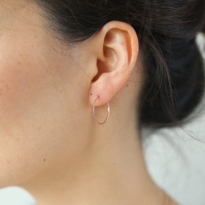 Weightless XS Hoops - 14k Rose Gold Fill