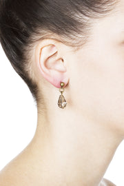 Zelda Post Earrings - Brass 2