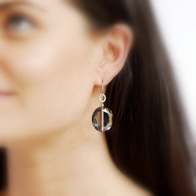Caviar Earrings - Silver/Smoky - Imperfect