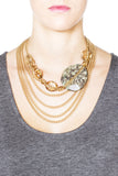 Chocolate Ivy Necklace - Gold 2