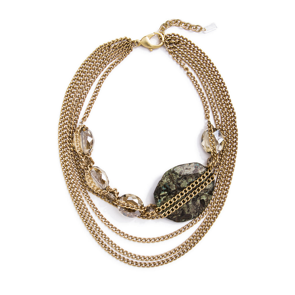 Chocolate Ivy Necklace - Gold