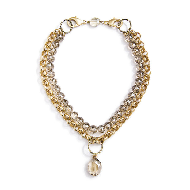 Lyra Convertible Necklace - Gold 1