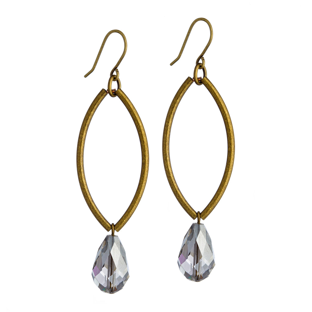 Marquise Earrings – Brass