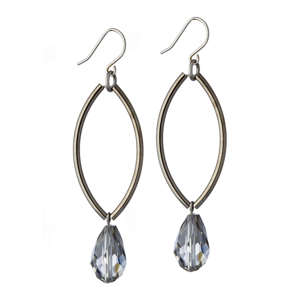 Marquise Earrings – Gunmetal