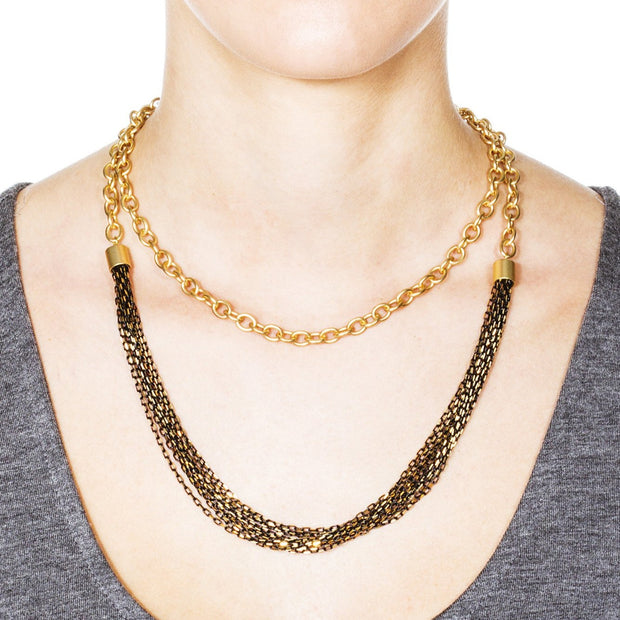 Menara Convertible Necklace - Black 3