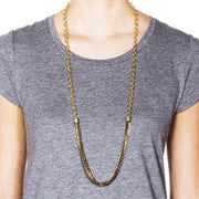Menara Convertible Necklace - Black 2