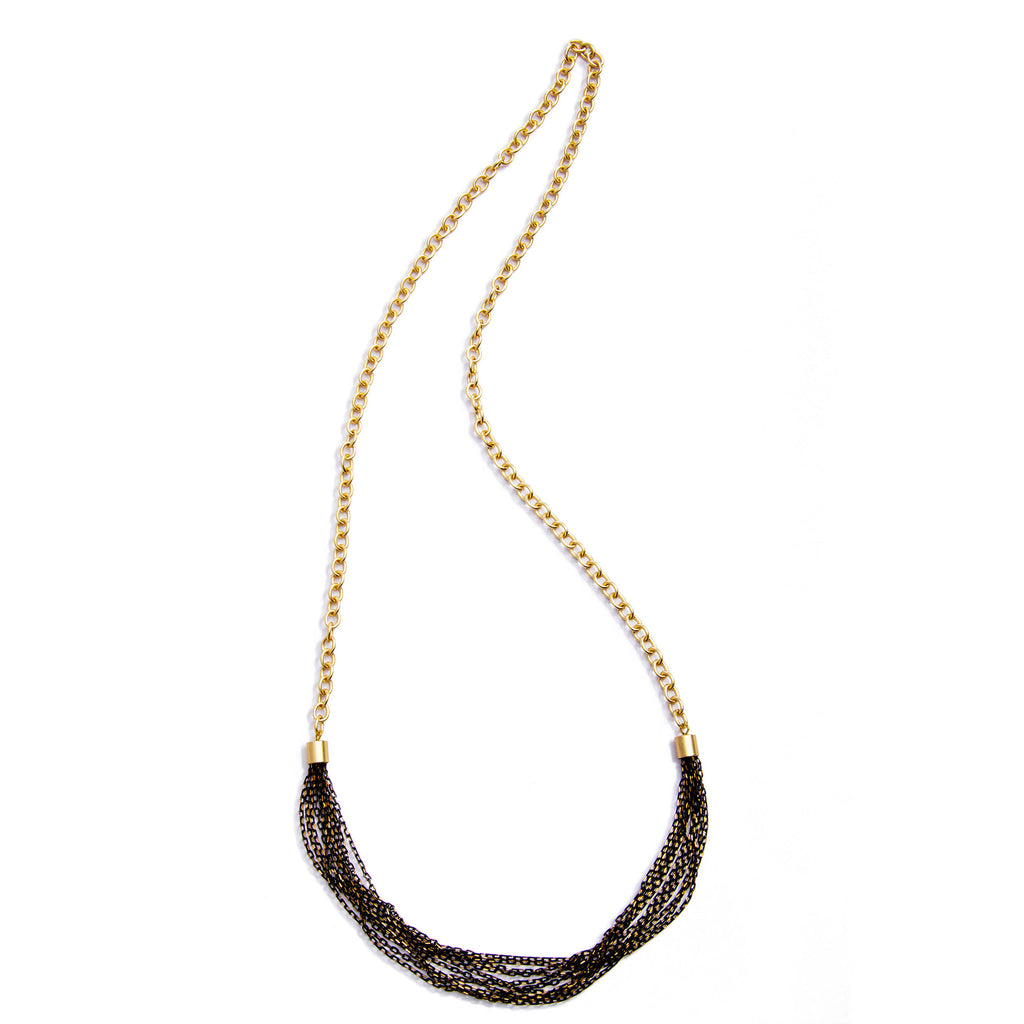 Menara Convertible Necklace - Black