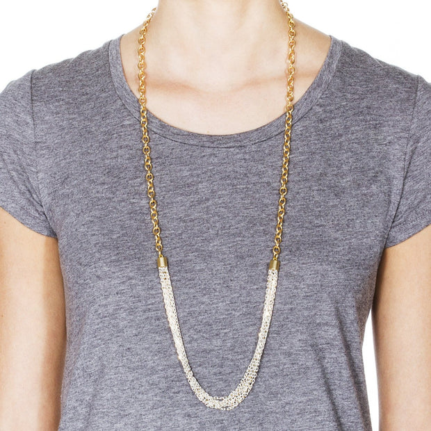 Menara Convertible Necklace - Gold 3