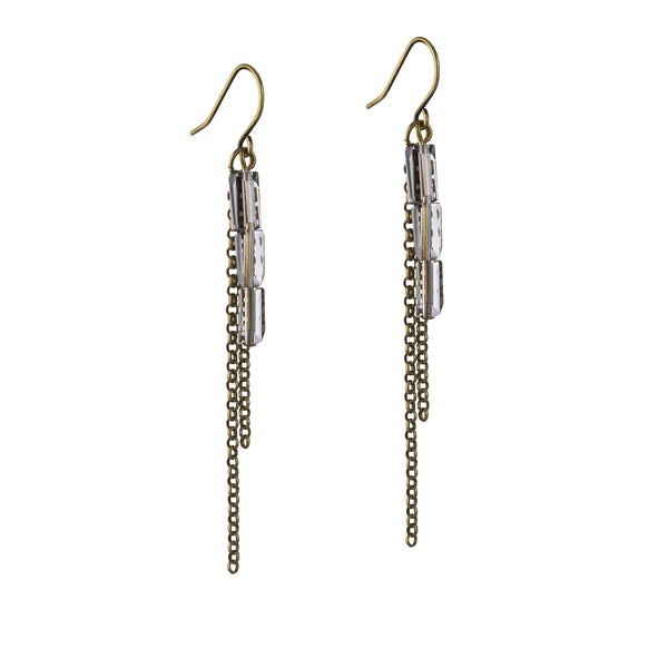 Osana Earrings - Brass