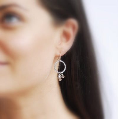 Radius Trio Earrings - Silver