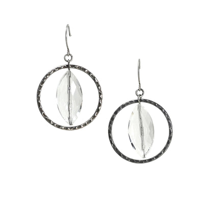 Solar Wind Earring - Silver Tones - Imperfect