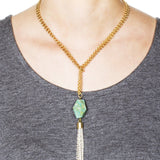 Souk Convertible Necklace – Turquoise 4