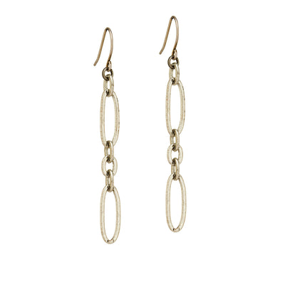 Tangier Long Earrings – Silver