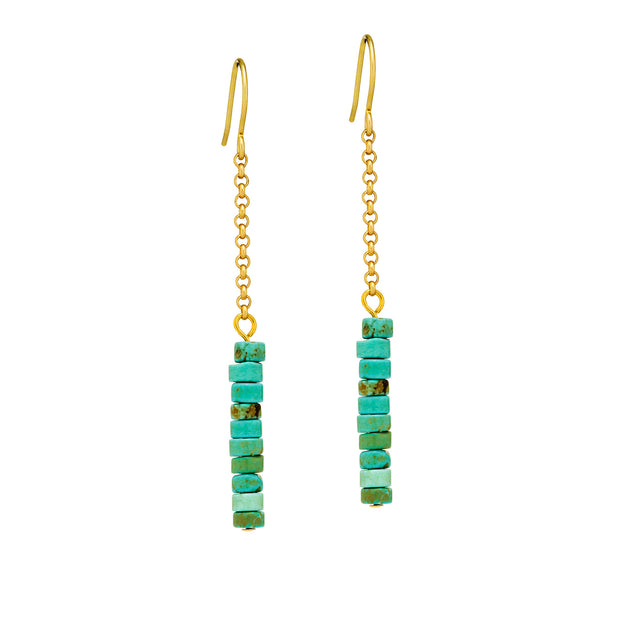 Disc Earrings - Turquoise