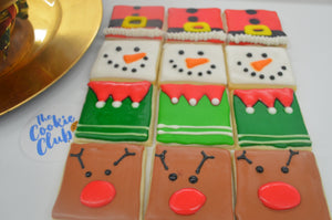 Basic Christmas Decorated Sugar Cookies